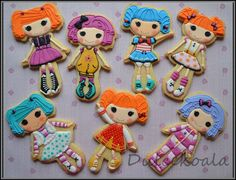 Galletas decoradas lalaloopsy.  Lalaloopsy decorated cookies