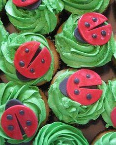 Ladybug birthday cupcakes