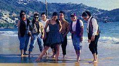 Selena Y Los Dinos on the beach