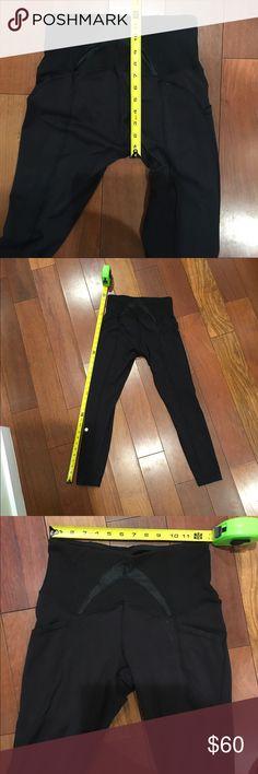 Lululemon high waisted leggings Gently worn lulus, wear high waisted or fold over. Handy phone pockets on both sides. So comfy. Never hemmed, never dried lululemon athletica Pants Leggings