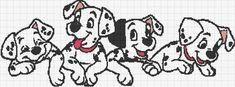 Disney Cross Stitch Patterns, Cross Stitch For Kids, Cross Stitch Art, Cross Stitch Boards, Cross Stitching, Cross Stitch Embroidery, Hand Embroidery Projects, Hand Embroidery Patterns, 101 Dalmatians Characters