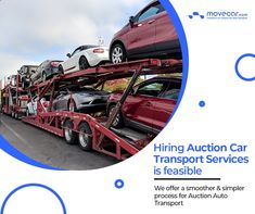 Move Car provides its customers with a super-easy auction car shipping process with guaranteed safety. #AutoAuction #CarTransport #OnlineAutoDelivery #movecar #CarShippingCost #autotransportcarriers #autotransport #carshipping Move Car, Super Easy, Transportation, Safety, Auction, Security Guard