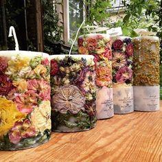 フローラルキャンドル販売します! : greenfinger キャンドルと暮らし Best Candles, Diy Candles, Scented Candles, Dried Flower Bouquet, Dried Flowers, Diy Aromatherapy Candles, Soft Natural Makeup, Candle Art, Candlemaking
