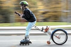motorized rollerblading..seriously..how do our hearts make it with all the stuff they dream up to try?   .
