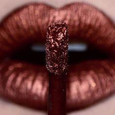 Lime Crime Metallic Velvetine 'Lana', pic by Matte Lipstick, Lipstick Colors, Lip Colors, Lipsticks, Lime Crime Lipstick, Metallic Lipstick, Kiss Makeup, Eye Makeup, Hair Makeup
