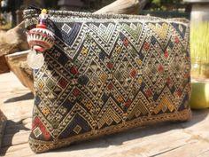 Vintage Lao Skirt Textile Purse by KulshiMumkin on Etsy, $7.50