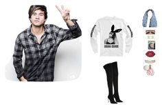 """""""hanging with Calum"""" by unicorn-923 ❤ liked on Polyvore featuring Under Armour, Chanel, Gianvito Rossi, Lime Crime and Miss Selfridge"""