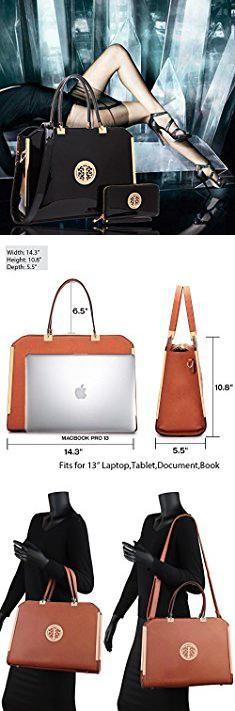 Checkered Bag Brand. MMK Collection Fashion Vegan Leather Women purse~Stylist Satchel Handbag With Free Matching Wallet~ Perfect Gift Set (01-6900W-BK).  #checkered #bag #brand #checkeredbag #bagbrand