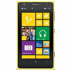 Nokia Lumia 1020, Yellow (AT)  Display: 4.5-inches Camera: 41-MP Processor Speed: 1.5 GHz OS: Windows Phone 8