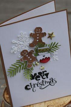 *Den* Stempel musste ich unbedingt für die Weihnachtskartenproduktion noch kaufen. Den Adventskalender findet ihr *hier* od... WEIHNACHTSKARTEN Lebkuchenmann, Merry Christmas, Tasse
