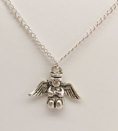 Girl Toddler Angel Necklace Free Shipping in US by kasual2klassy, $11.50