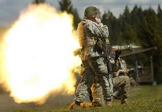 A Soldier from 2-1 Inf., 5th Bde., 2nd Inf. Div. fires an AT4 during training at Range 59. www.army.mil  photo by Jason Kaye