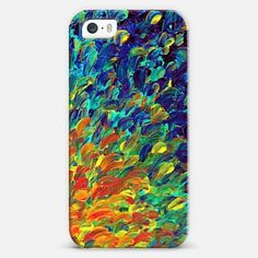 """Follow the Current"" by Julia Di Sano, Ebi Emporium on @Casetify Colorful Abstract Acrylic Painting Whimsical Bold Colors Fine Art Decorative Orange Yellow Green Navy Blue Indigo Ocean Waves Sea Splash Ombre Rainbow Nature iPhone 4 5 6 6 Plus, Samsung Galaxy S3 S4 S5 Multicolor Tech Device Case Techie Cover, Get $10 off using code: 5K7VFT"