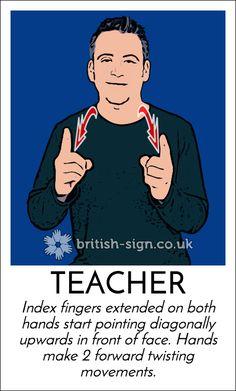 Today's #BritishSignLanguage (#BSL) sign is: TEACHER - For all teachers on #WorldTeachersDay today.