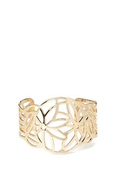 Filigree Flower Cuff | FOREVER21 #Bracelet #Accessories