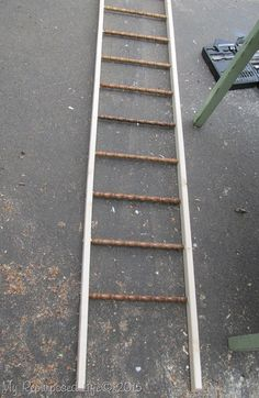 Old Wood Spindles Idea | What to do with left over spindles? Make a Blanket Ladder | DIY Home Projects | Find the tutorial on TodaysCreativeLife.com