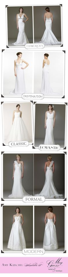 Some of our favorite wedding gowns from Amy Kuschel Bridal. #wedding #weddinggown #bridal
