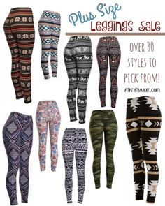 Plus Size leggings, plus sized fashion deals for winter over 30 styles to pick from