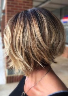 Trending Stacked Short Bob Haircuts for Women in 2019 layered bob hairstyles are fabulous.layered bob hairstyles are fabulous. Best Bob Haircuts, Bob Haircuts For Women, Layered Bob Hairstyles, Hairstyles Haircuts, Bob Hairstyles For Thick Hair, Inverted Bob Haircuts, Trending Hairstyles, Shortish Hairstyles, Thick Bob Haircut