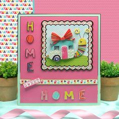 Card made using the Home Sweet Home Luxury Topper Set from the Making Memories Collection by Hunkydory Crafts