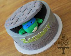 Blue Teenage Mutant Ninja Turtle cake