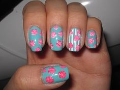 Jelly's Nails: My Blue Floral Nails - Step by step