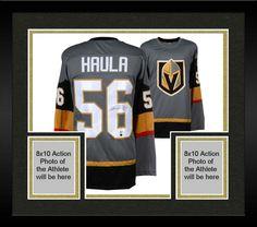 2b95e6d6c56 Framed Erik Haula Vegas Golden Knights Autographed Grey Jersey BAS Vegas  Golden Knights, Nhl,