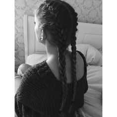 Double French Braids ❤ liked on Polyvore featuring accessories