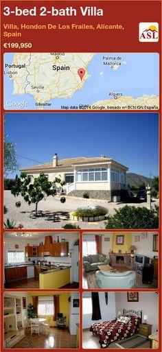 3-bed 2-bath Villa in Villa, Hondon De Los Frailes, Alicante, Spain ►€199,950 #PropertyForSaleInSpain