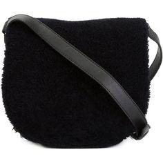 Alexander Wang 'Lia Sling' crossbody bag ($665) ❤ liked on Polyvore featuring bags, handbags, shoulder bags, black, black shoulder bag, black handbags, studded shoulder bag, black purse and studded purse