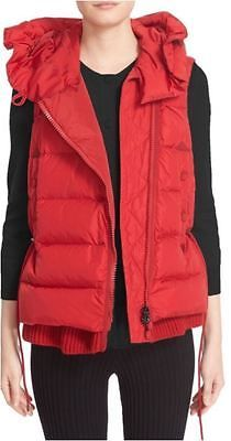 MONCLER-Red-Laurie-Hooded-A-Line-Down-Jacket-Quilted-Vest-2-4-6-US