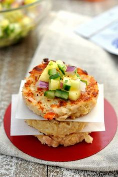 These Hawaiian tuna cakes are the perfect clean eating party food. Topped with a pineapple habanero salsa, they taste amazing for dinner or an appetizer.