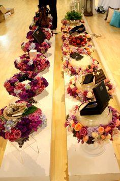 Beautiful rose-themed hantaran trays :)