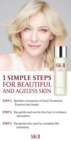 You're just three steps away from beautiful, ageless skin! Reduce the appearance of your wrinkles with SK-II. Get started on your perfect routine.