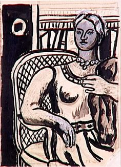 Study for a Portrait by @artistleger #fineart #naïveart