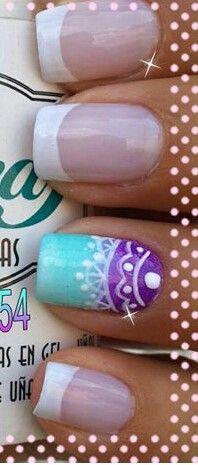 Nails Purple Nail Designs, Cute Nail Art Designs, Gel Nail Designs, How To Do Nails, Fun Nails, Pretty Nails, Self Nail, Different Types Of Nails, Lace Nails