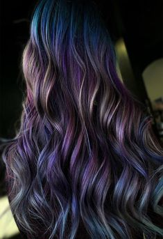 Discover recipes, home ideas, style inspiration and other ideas to try. Ombre Hair Color, Hair Color For Black Hair, Cool Hair Color, Love Hair, Hair Colors, Blond, Opal Hair, Underlights Hair, Hair Highlights