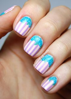 Dressed Up Nails: Money Smart Nail Art: matte stripes and roses tuto...