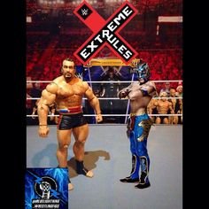 Extreme rules predictions comin atchya! Pre show we've got rusev vs Kalisto for the us title. Going with rusev becoming a 2 time champion and (hopefully) losing it to John Cena upon his return. Leave your predictions below!  #Rusev #Kalisto #extremerules #ustitle  #wwe #wwf #wrestling #wrestlingfigures #raw #smackdown #wwefigures #wrestlingfigs #toystagram #nxt #wwenxt #wweelite #actionfigures #mattel #jakks #cmpunk #johncena #toys #wwetoys #toyography #toyartistry #RingsideCollectibles…