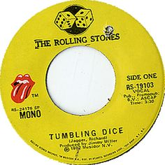 Rolling Stones Tumbling Dice US vinyl single inch record)