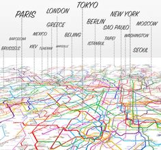 214 World Subway Maps meshed in one