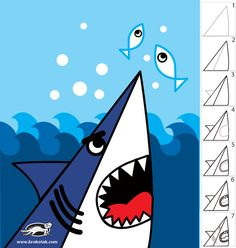 How+To+Draw+a+SHARK+in+7+Easy+Steps