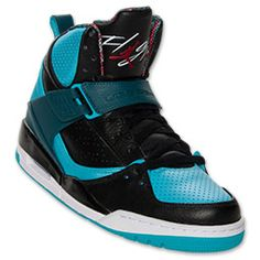 hot sale online 043ca a29ab Men s Jordan Flight 45 High Basketball Shoes   Black Dark Sea Gamma Blue Air