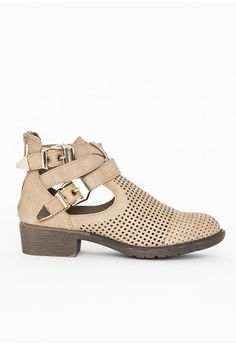 Missguided - Mirada Tan Buckle Ankle Boots