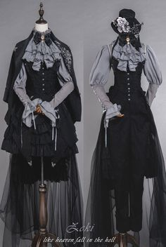 LolitaWardtobe - Bring You the latest Lolita dresses, coats, shoes, bags etc from Trustworthy Taobao indie Brands. We never resell Lolita items from untrustworthy Taobao stores. Viktorianischer Steampunk, Steampunk Fashion, Gothic Lolita Fashion, Victorian Fashion, Old Fashion Dresses, Fashion Outfits, Beautiful Outfits, Cool Outfits, Mode Lolita