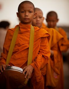 Novice Monks - Bangkok - photo by: Christopher Jackson, Source: Flickr, found with Wylio.com