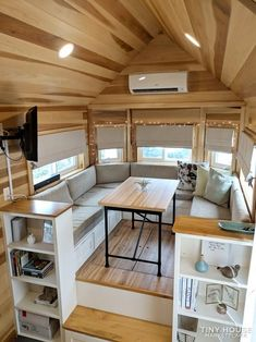 The Clover - Most Popular Tiny House on Wheels can find Tiny house interiors and more on our website.The Clover - Most Popular Tiny House on Wheels 3 Tyni House, Tiny House Cabin, Tiny House Plans, Tiny House On Wheels, Tiny House Trailer, Homes On Wheels, Tiny House Exterior Wheels, Two Bedroom Tiny House, House Stairs