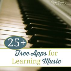25+ {free} Apps for learning music! Find new ways to incorporate music into your homeschool!