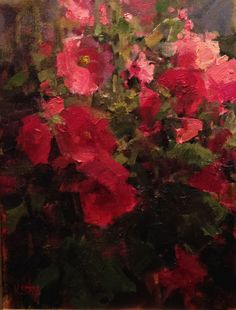 """Summer Flowers,"" Kathryn Stats, 9x12, oil on panel"