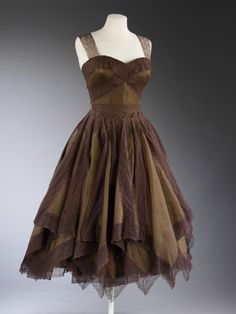~1950's Handkerchief Hemline Dress~